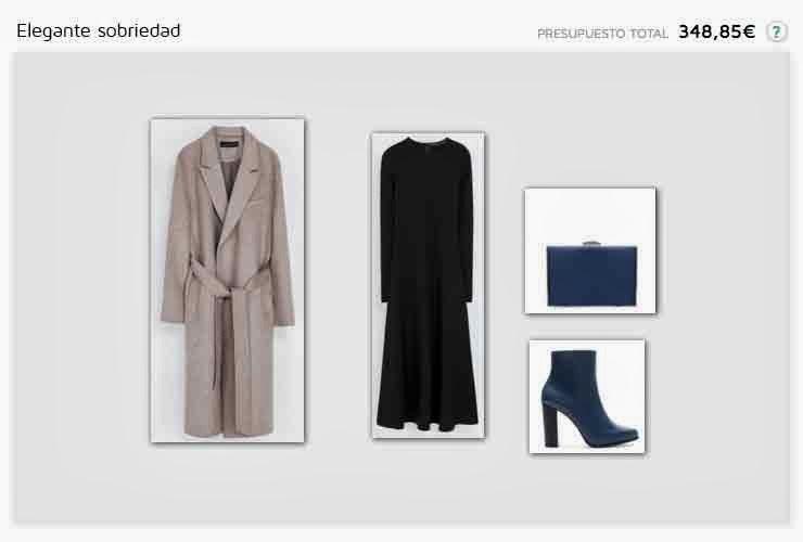 Gabardina, vestido, botin y bolso