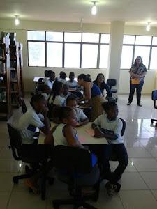 Escola Senhora Sant`Anna comemora aniversário na Biblioteca Juracy Magalhães Jr.