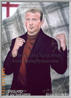 STARS ENGLAND SHEARER Portrait Drawing Soccer Football Khaled3Ken Gallery