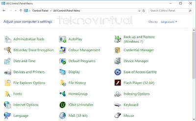 Cara Mencari Control Panel Pada Windows 10 5