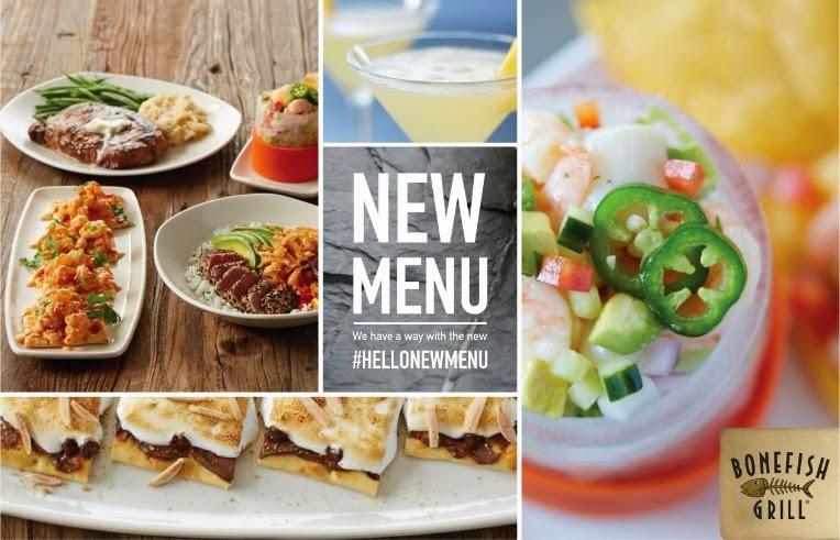 Andersons angels new menu at bonefish grill for Fish bone grill menu