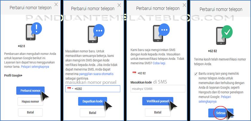 Cara Mengganti Nomor Ponsel Akun Google