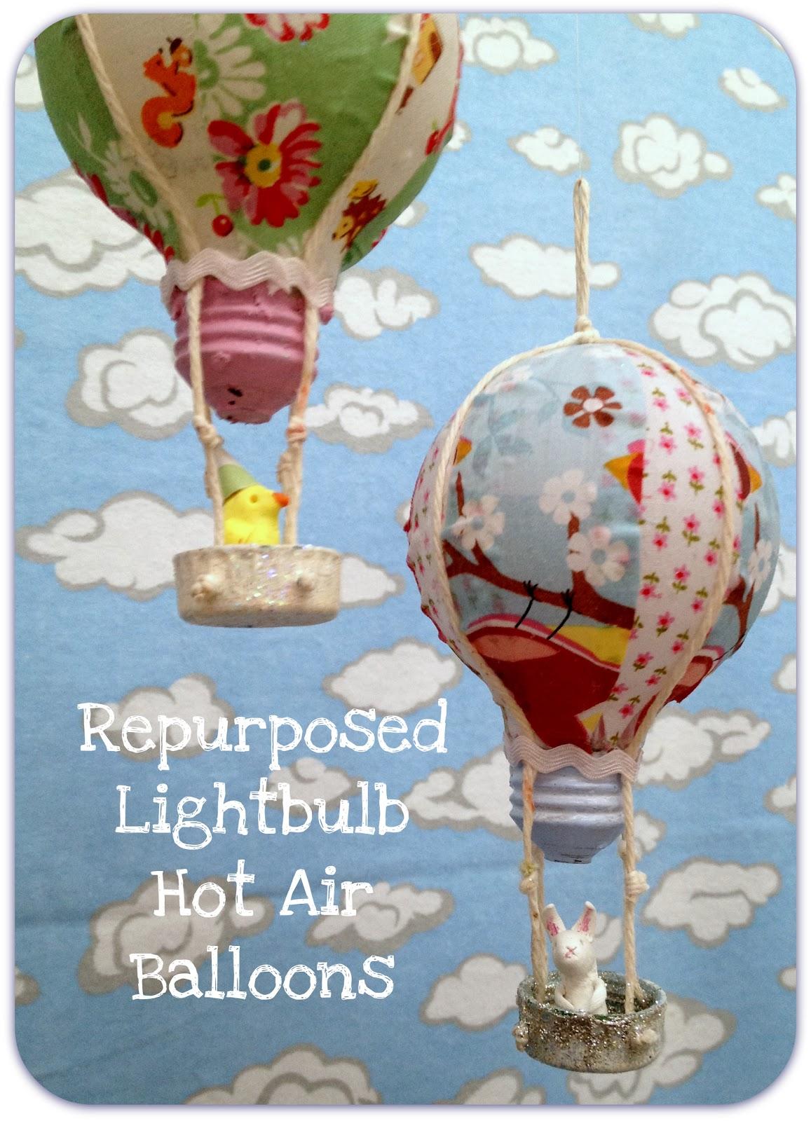 Repurposed Light Bulb Hot Air Balloon DIY