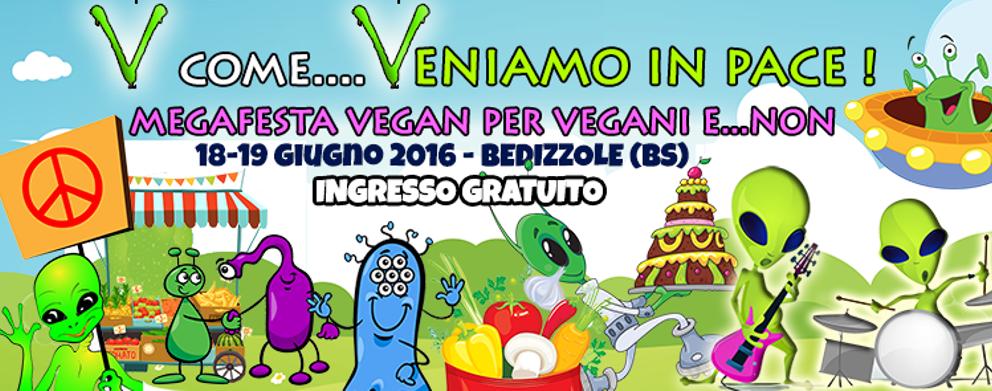 V come VENIAMO IN PACE - Megafestival vegan per VEGANI e NON