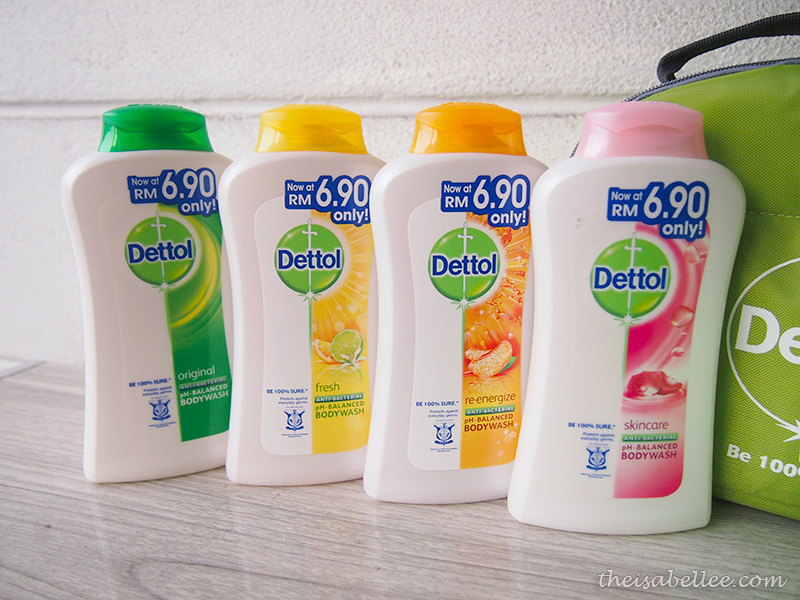 Dettol pH Balance Shower Gel original fresh reenergize and skincare
