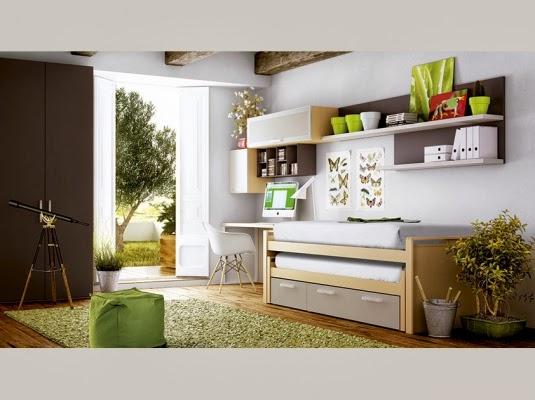 habitacion con cama compacto