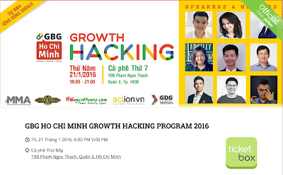 GBG Ho Chi Minh với Growth Hacking 2016