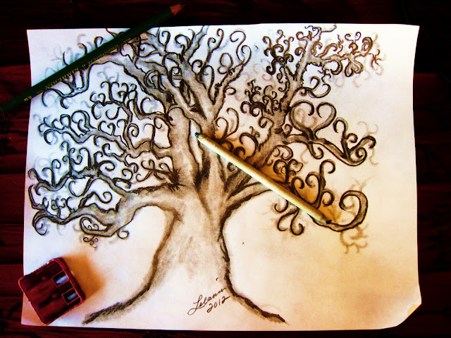 onelovejourney2012, tree of life, art, drawing, sketch of a tree, lelania, jojo williams, one love tree, one love art work