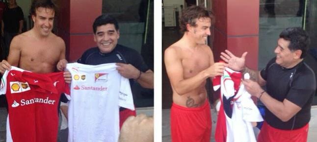 Fernando Alonso y Maradona