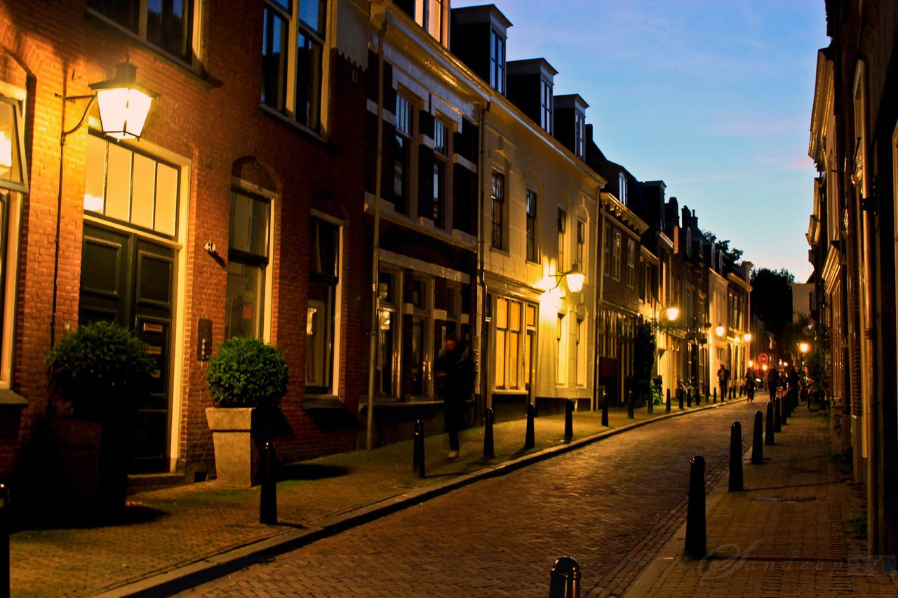 One of the tranquil streets of Utrecht