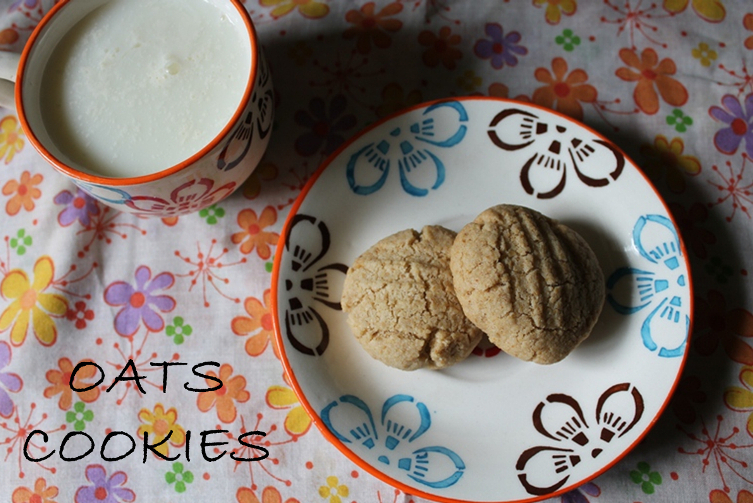 Eggless Oats Cookies - Just 4 Ingredients