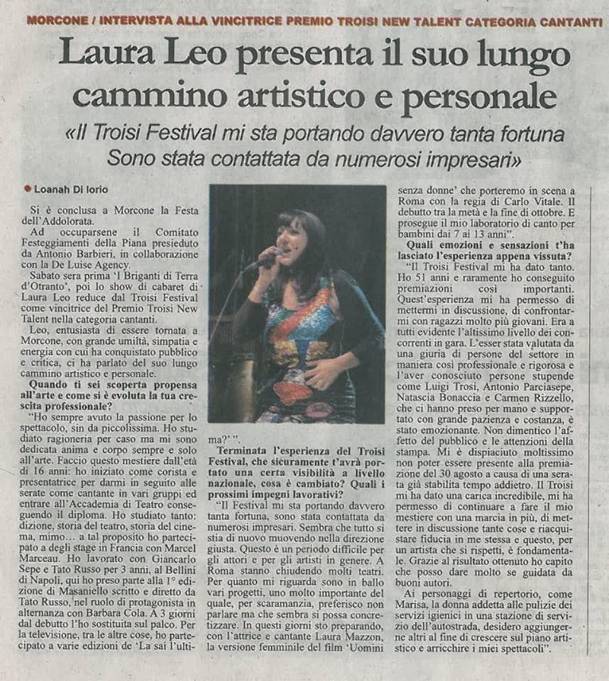 La nota e famosissima attrice comica Laura Leo