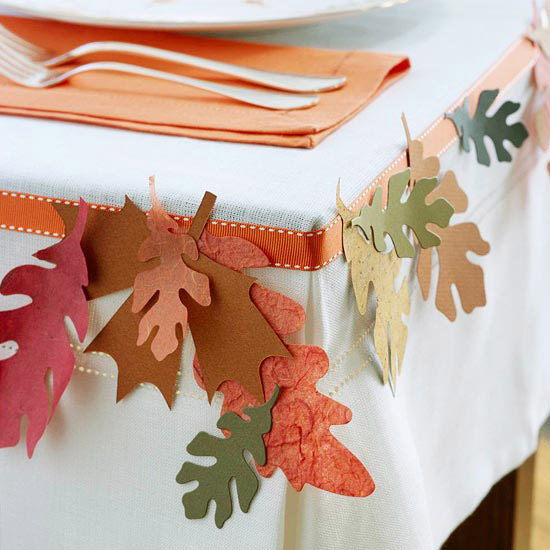 table decoration for thanksgiving maybe a simple trim with punched ...