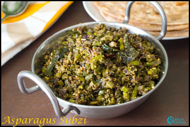 Asparagus Subzi Recipe | Asparagus Masala Dry Curry Recipe