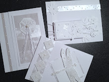 White on White Cards with Kathy