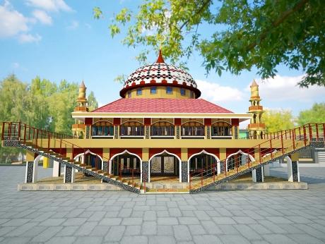 Desain Final Masjid Raya Abu Bakar Ash-Shiddiq