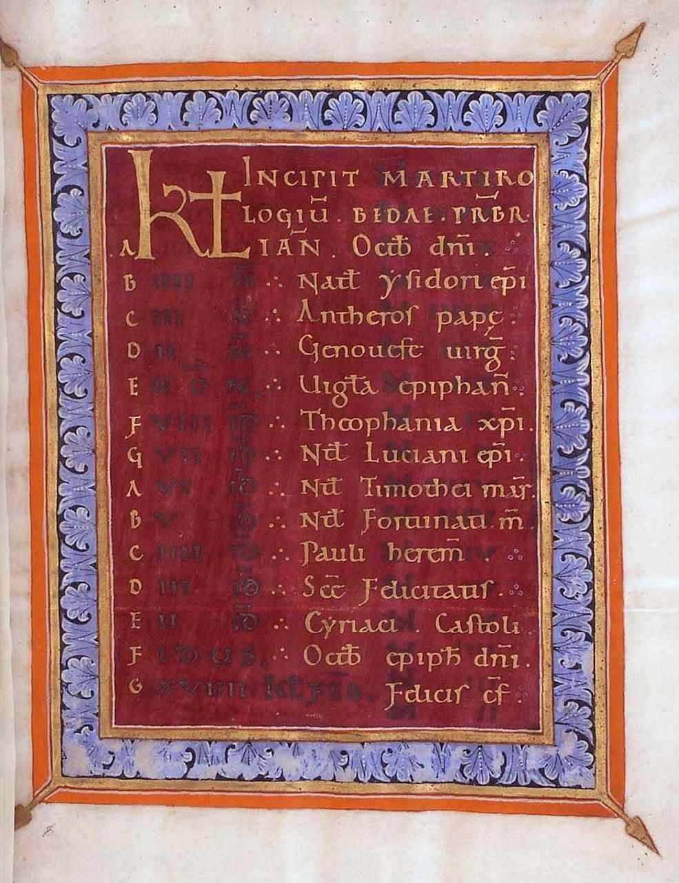 El Sacramentario de Tyniecki adoptó  la minúscula carolingia, clara y fácil de leer