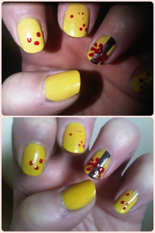 Kill Bill Nailart HandPainted