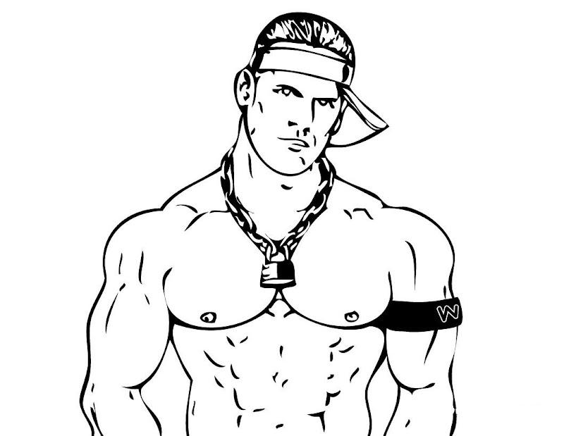 Drawing Coloring John Cena title=