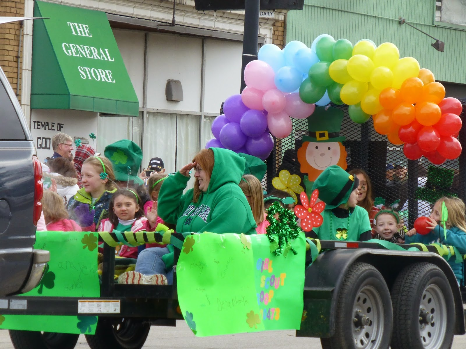 St. Patrick's Rainbow Parade Float