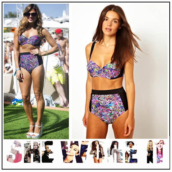 All About Eve, All Over Print, ASOS, Blue, Bustier Bikini Top, Contrasting Black Panel, Green, High Waist Bikini Bottom, Jungle Fever, Matching, Pink, Purple, Zoe Hardman,