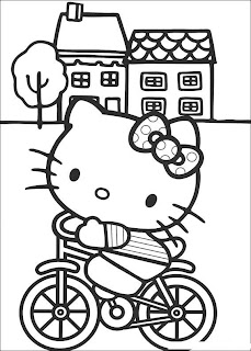 hello kitty coloring pages, kids coloring pages