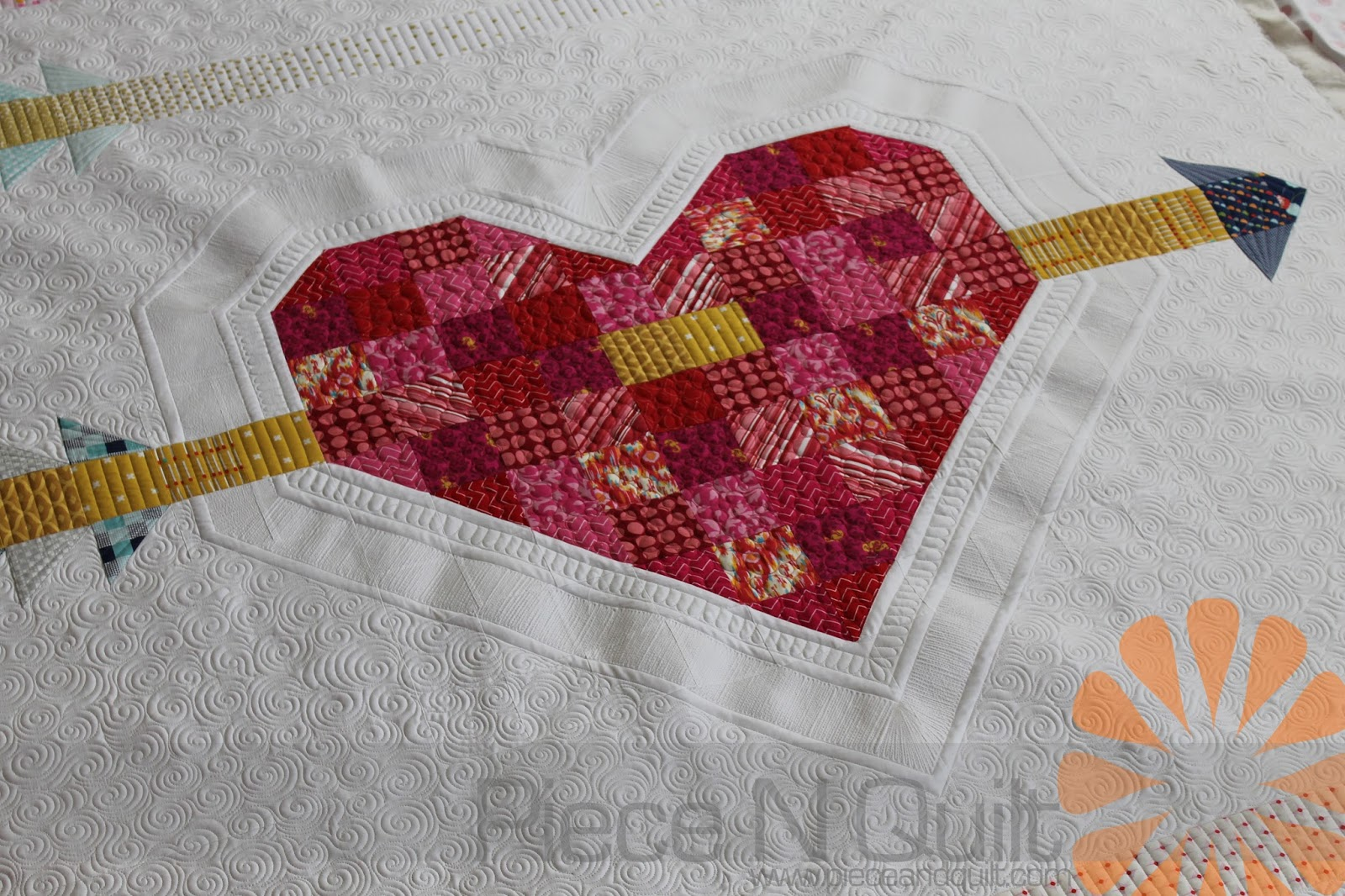 Piece N Quilt Cupids Arrow Custom Machine Quilting By Natalia Bonner