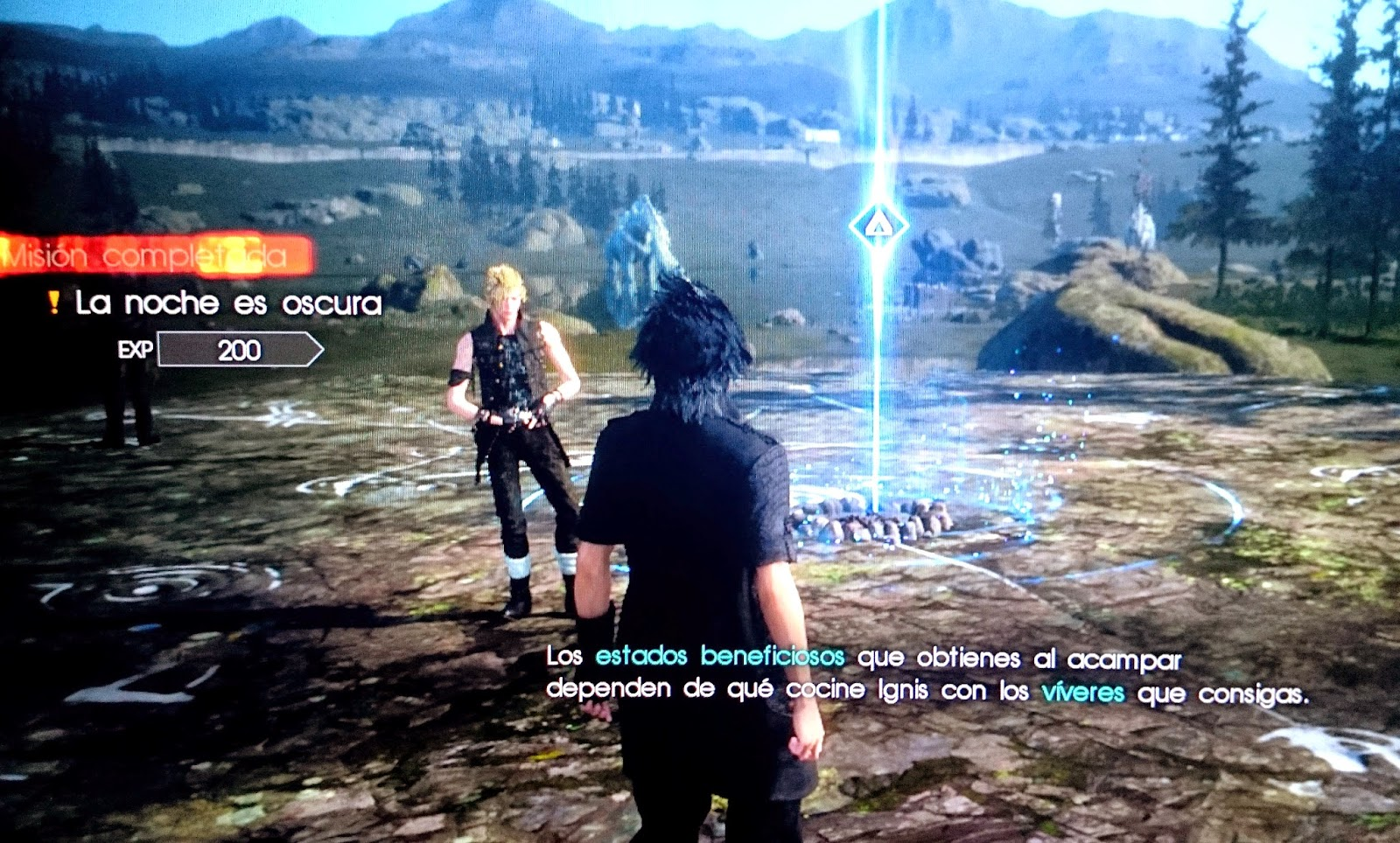 final fantasy xv acampar descansar
