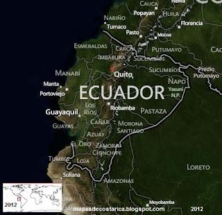 Vista aérea de ECUADOR