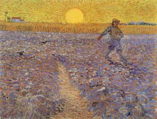 Le semeur au soleil couchant Vincent van Gogh