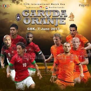Susunan Pemain Indonesia Vs Belanda 7 Juni 2013