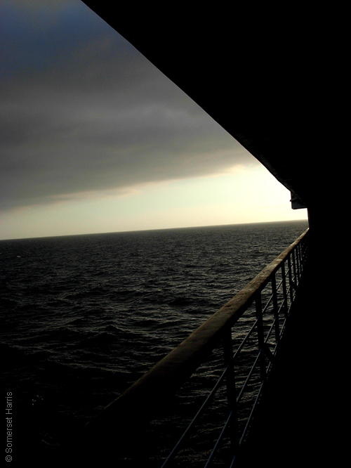 sunset at sea seen from a ship, atardecer, mar, barco, isla de El Hierro