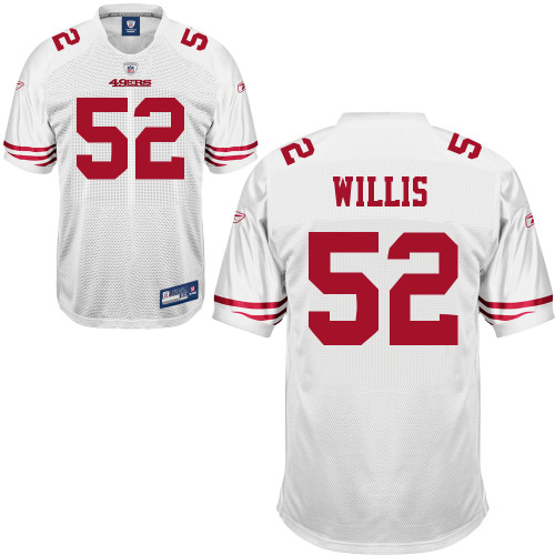 NFL Jersey's Youth San Francisco 49ers Patrick Willis Nike White Game Jersey
