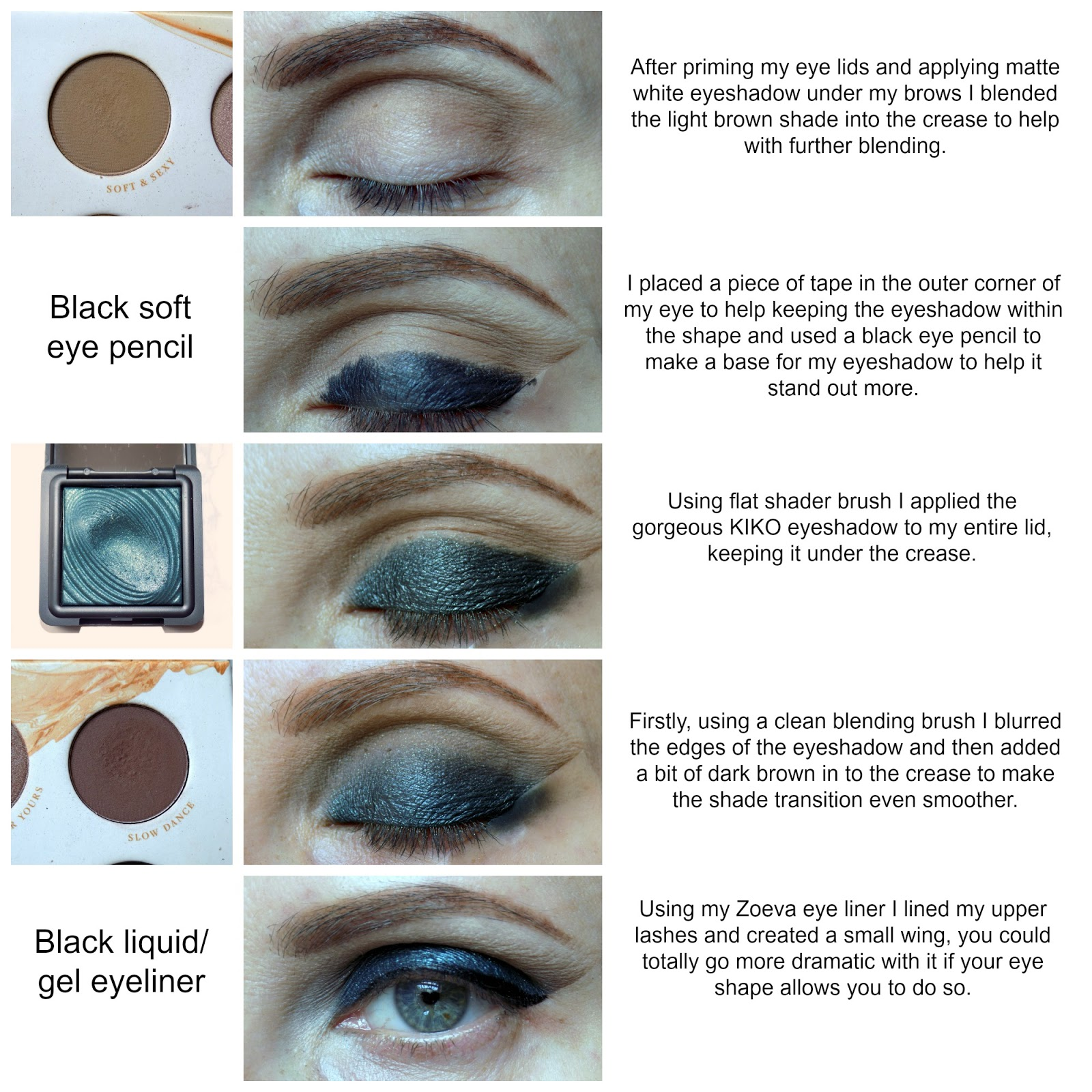 Dark green smokey eyes tutorial