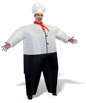 blow-up chef costume