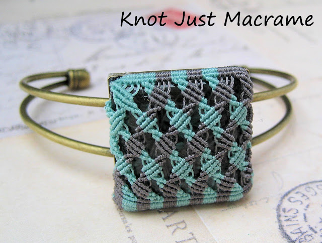 Micro macrame bangle by Sherri Stokey of Knot Just Macrame