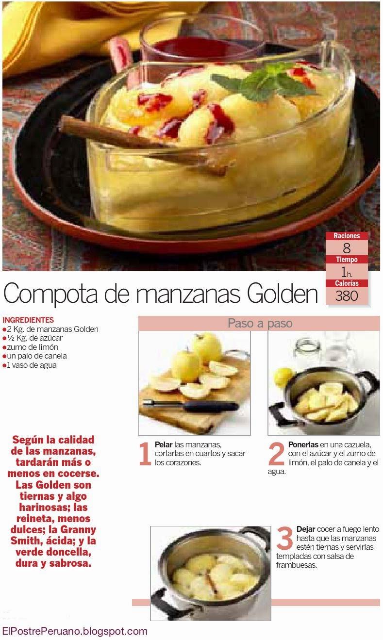 recetas para bebes RECETA DE COMPOTA DE MANZANAS GOLDEN