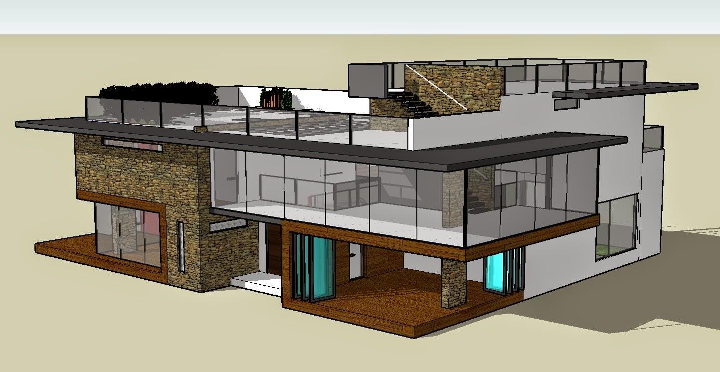 modern house plans sketchup
