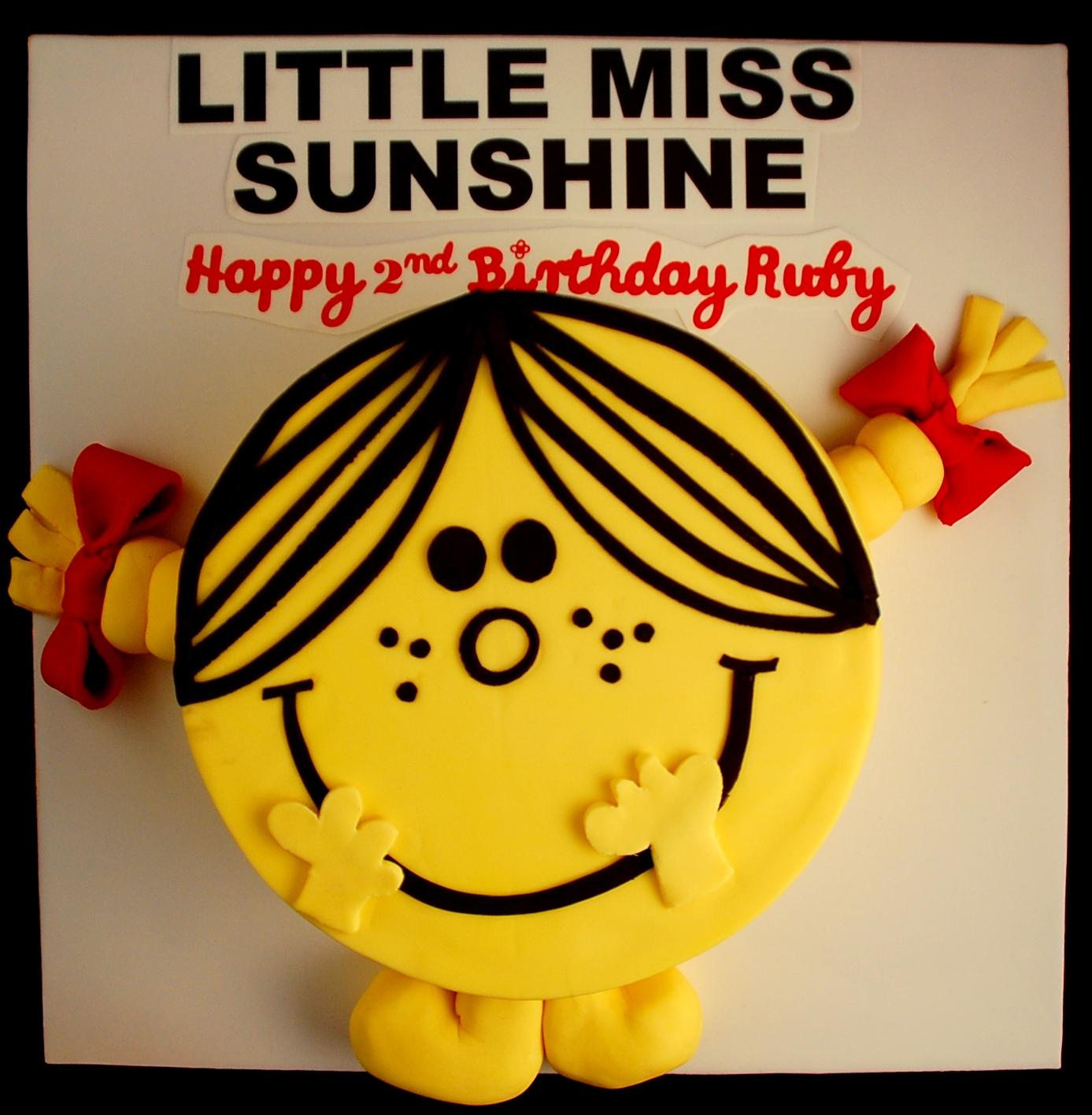 Zels Cakes Little Miss Sunshine Book Cake - Little miss birthday cake