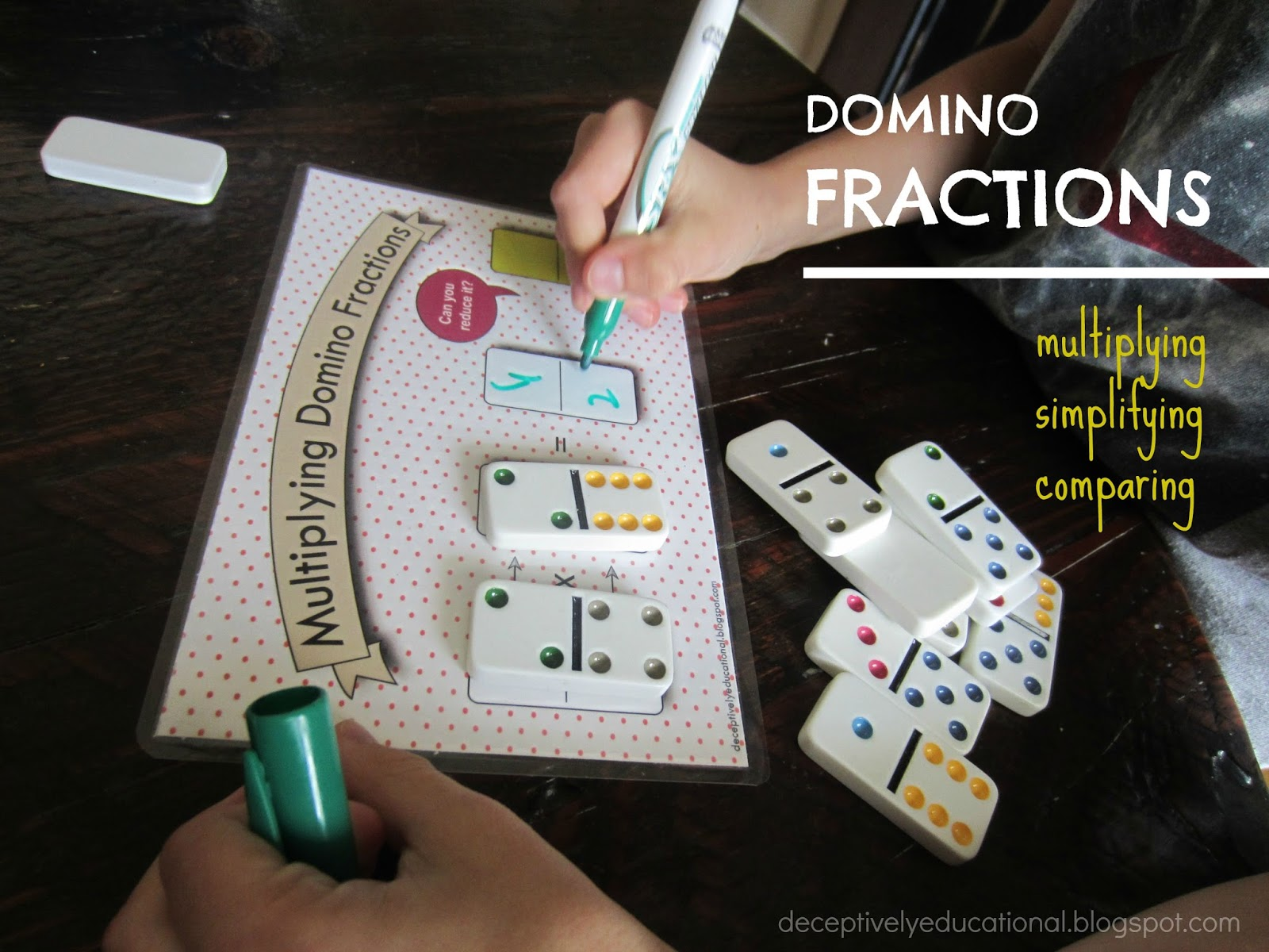 Multiplying Domino Fractions