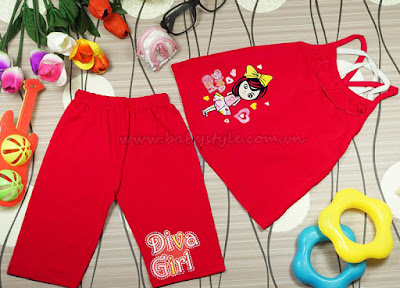 Bộ Diva Girl màu dâu - babystyle.com.vn
