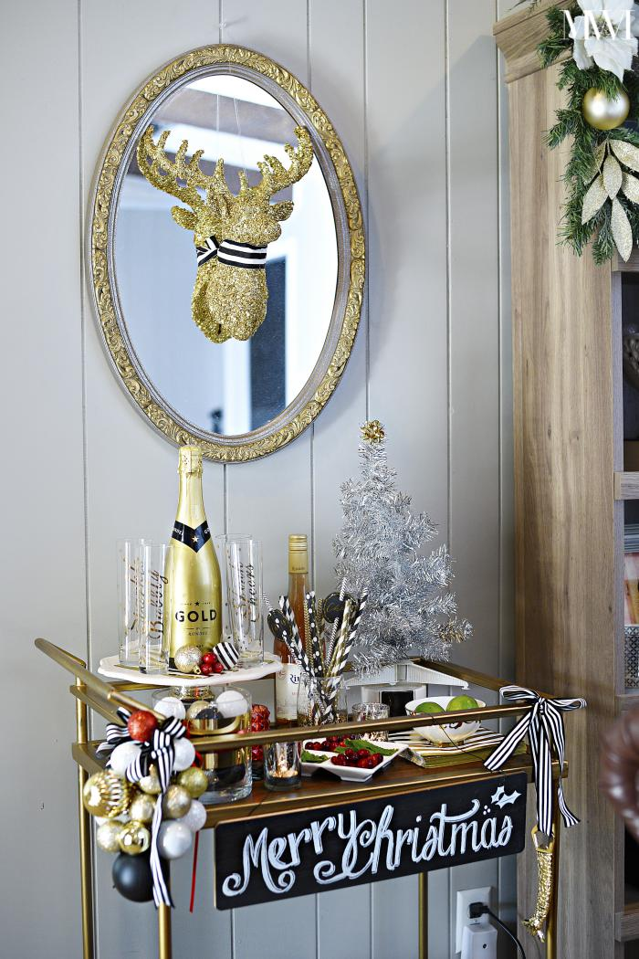 target bar cart holiday styling