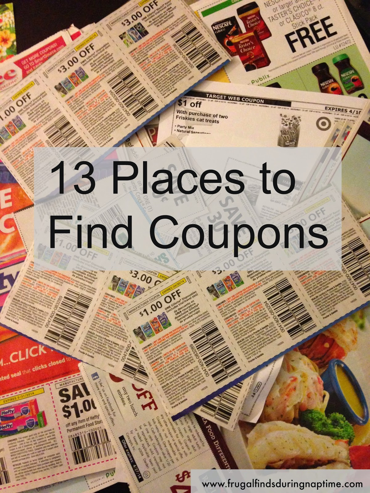If you're new to couponing, make sure you read this list of thirteen different places to use coupons.