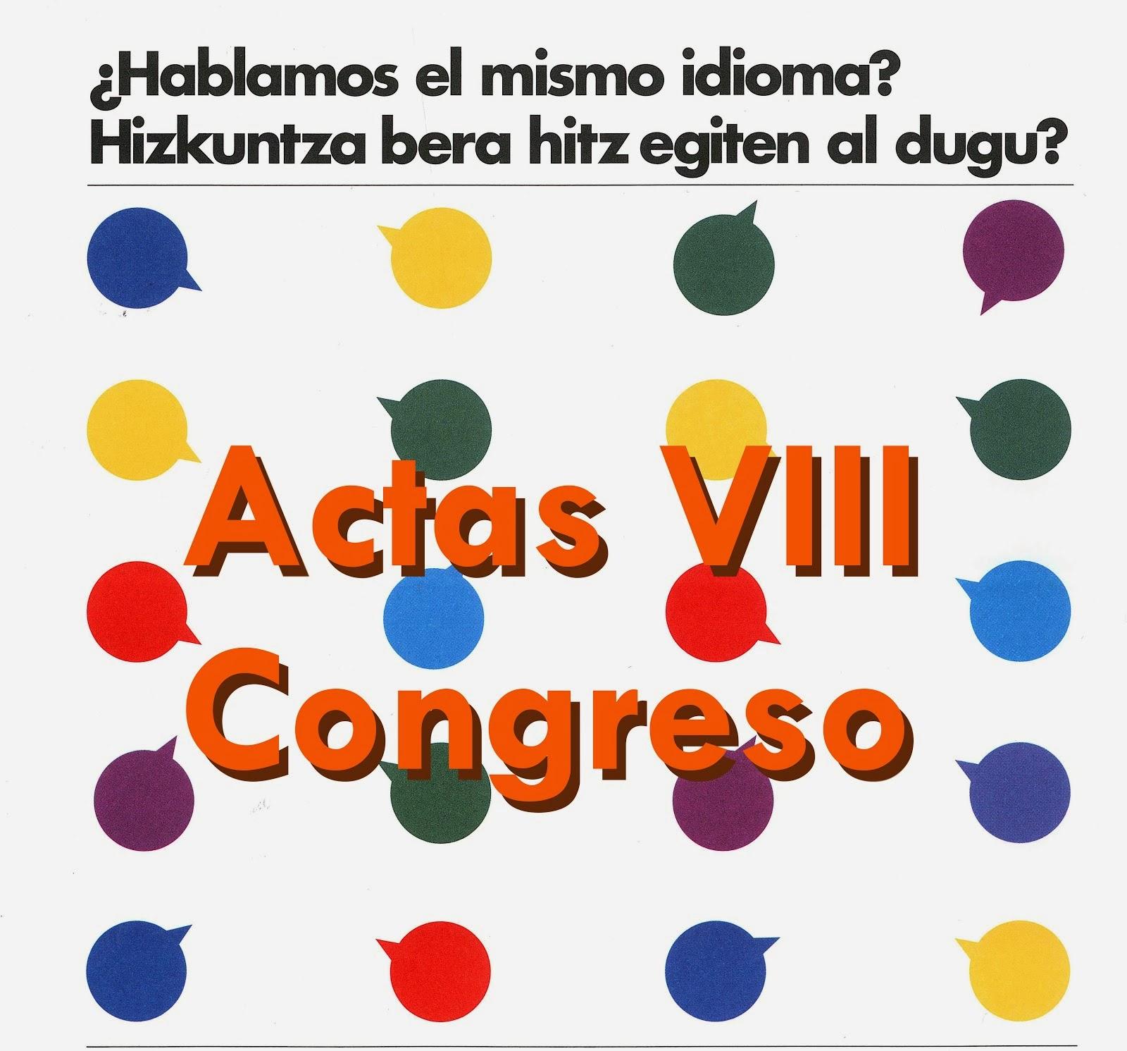 Actas VIII Congreso EEOOII