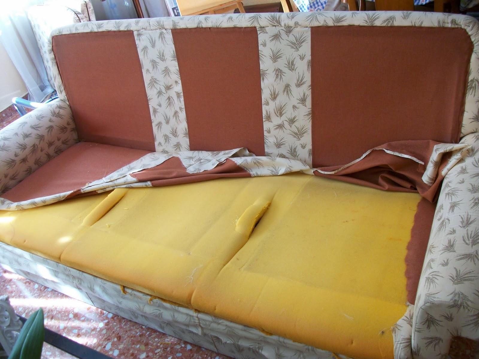 El blog de la restauradora tapizar un sof de tres plazas - Como tapizar un sofa ...