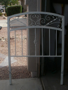 Twin Iron Headboard  *SOLD*