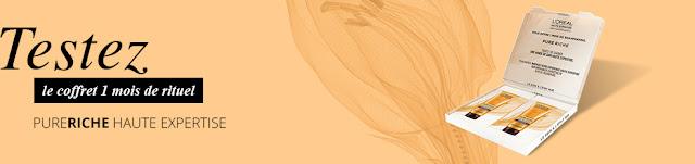 13 échantillons gratuit de shampooing Pure Riche de L'Oréal !