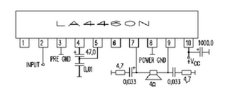 LA4460 Audio Amplifier Circuit