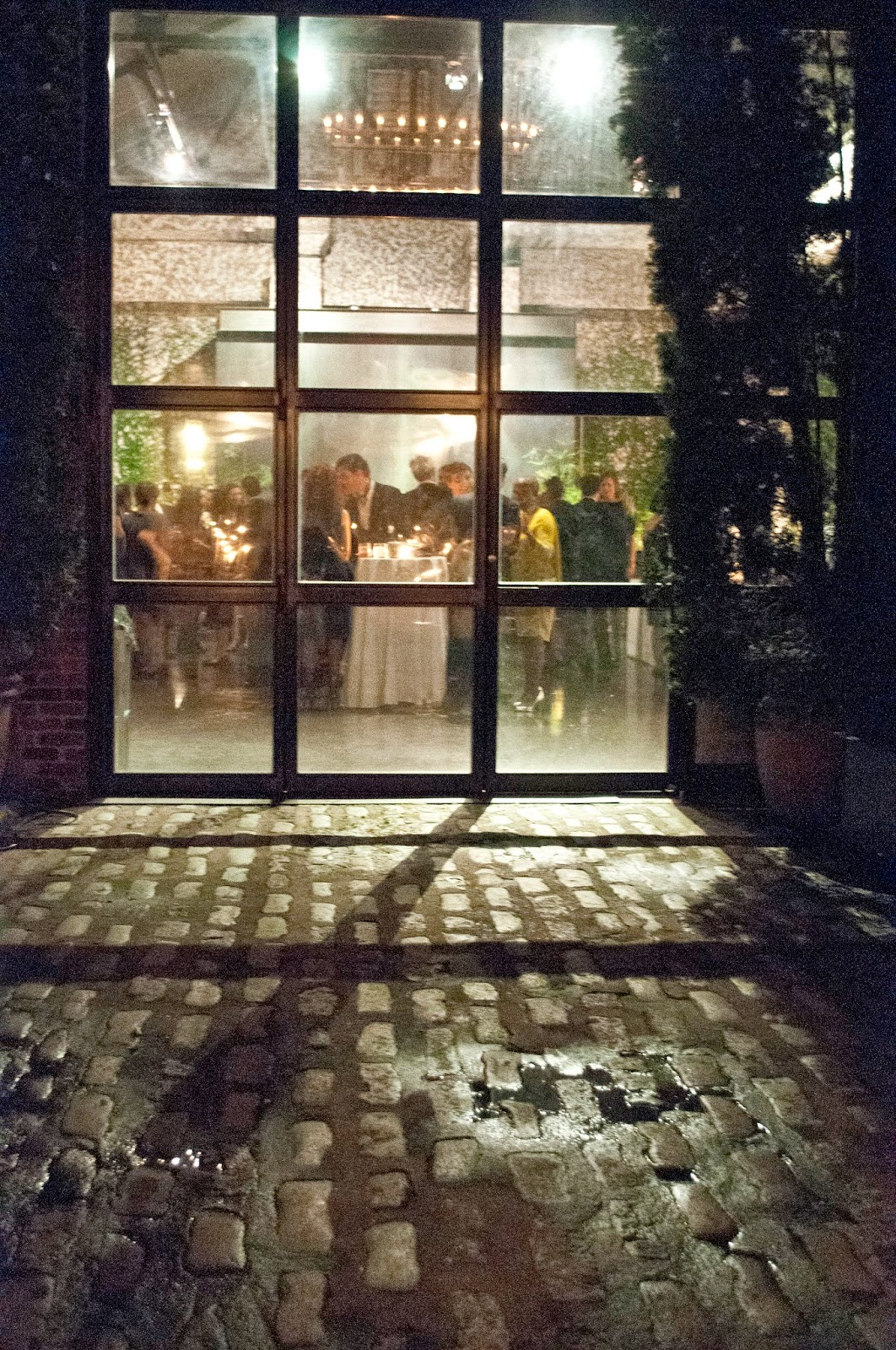 Fall Foundry LIC Wedding romantic view looking in