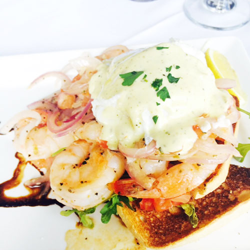 prawns benedict, foodie, brunch food